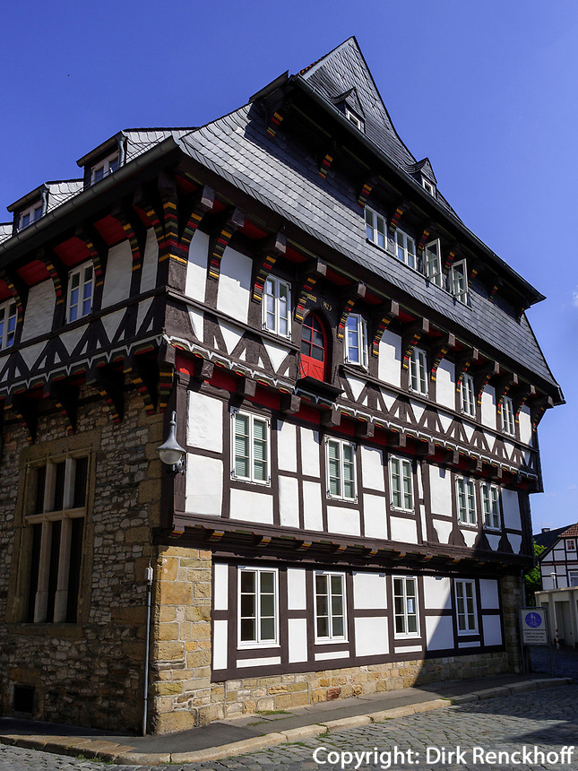 Fachwerkhaus Bergstr. 60, Goslar, Niedersachsen, Deutschland, Europa, UNESCO-Weltkulturerbe<br /> Halftimbered house Berg St. 60, Goslar, Lower Saxony,, Germany, Europe, UNESCO Heritage Site