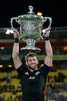All Blacks' Kieran Read. All Blacks v Wallabies. The Rugby Championship & Bledisloe Cup at Westpac Stadium, Wellington, New Zealand on Saturday 27 August 2016.<br /> Photo by Masanori Udagawa. <br /> www.photowellington.photoshelter.com.