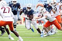 CHAPEL HILL, NC - OCTOBER 10: Javonte Williams #25 of North Carolina rushes the ball during a game between Virginia Tech and North Carolina at Kenan Memorial Stadium on October 10, 2020 in Chapel Hill, North Carolina.