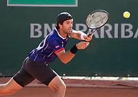 Paris, France, 04 ,10,  2020, Tennis, French Open, Roland Garros, Men's doubles Jean Julien Rojer (NED)<br /> Photo: Susan Mullane/tennisimages.com