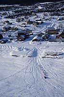 Aerial of Bill Pinkham Arriving at Nulato
