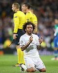 Real Madrid's Marcelo Vieira celebrates the victory in the Champions League 2015/2016 Quarter-finals 2nd leg match. April 12,2016. (ALTERPHOTOS/Acero)