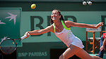 Alexandra Cadantu (ROU) loses in first round at Roland Garros in Paris, France on May 27, 2012