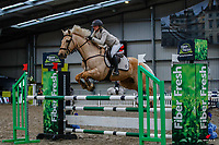 NZL-Isabelle Hawkins rides Te Urewera Magic. Class 28: Trev Terry Marine Pony 1.15m-1.20m - FINAL. 2021 NZL-Easter Jumping Festival presented by McIntosh Global Equestrian and Equestrian Entries. NEC Taupo. Sunday 4 April. Copyright Photo: Libby Law Photography