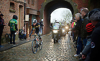 Edvald Boasson Hagen (Nor/MTN-Qhubeka) entering the french town of Cassel<br /> <br /> 77th Gent-Wevelgem 2015
