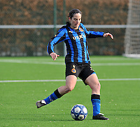 Club Brugge Dames - Rassing Harelbeke : Lore Dezeure.foto DAVID CATRY / Vrouwenteam.Be