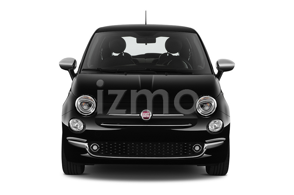 Car photography straight front view of a 2020 Fiat 500 S8-Star 3 Door Hatchback Front View
