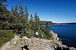 View from Otter Cliffs, Acadia National Park, Maine, USA