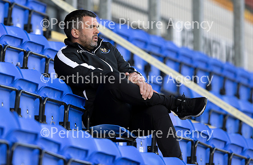 St Johnstone FC…..<br />Manager Callum Davidson<br />Picture by Graeme Hart.<br />Copyright Perthshire Picture Agency<br />Tel: 01738 623350  Mobile: 07990 594431