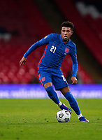 Jadon Sancho (Borussia Dortmund) of England during the UEFA Nations League match played behind closed doors due to the current government Covid-19 rules within sports venues between England and Denmark at Wembley Stadium, London, England on 14 October 2020. Photo by Andy Rowland.