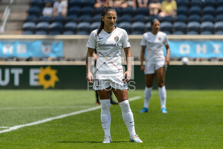 BRIDGEVIEW, IL - JUNE 5: Debinha #10 of the North Carolina Courage looks on during a game between North Carolina Courage and Chicago Red Stars at SeatGeek Stadium on June 5, 2021 in Bridgeview, Illinois.