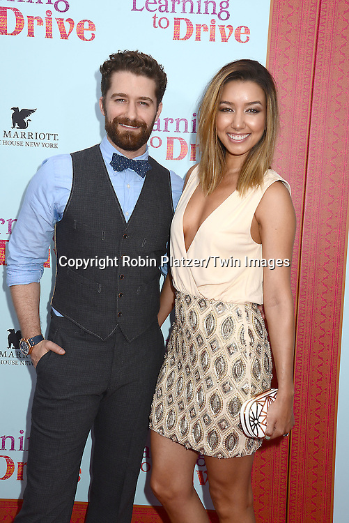 """Matthew Morrison and wife Renee Puento attends the NewYork VIP Premiere of """"Learning to Drive""""<br /> on August 17, 2015 at The Paris Theatre in New York City, New York, USA. <br /> <br /> photo by Robin Platzer/Twin Images<br />  <br /> phone number 212-935-0770"""