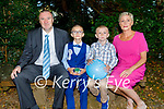 Fossa NS student Eoin Murphy from Aghadoe receiving his First Holy Communion in the Prince of Peace Church Fossa on Saturday, l to r: John, Eoin, Cillian and Liz Murphy.