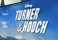"""LOS ANGELES, CA - JULY 15: Premiere event for the Disney+ original series """"Turner & Hooch"""" at Westfield Century City on July 15, 2021 in Los Angeles, California. (Photo by Frank Micelotta/Disney+/PictureGroup)"""