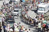 Adam Yates (GBR/Orica-GreenEDGE) up the top of the Col du Tourmalet (HC/2115m/17km/7.3%)<br /> <br /> st11: Pau - Cauterets (188km)<br /> 2015 Tour de France