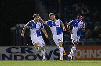 Matty Taylor of Bristol Rovers  celebrates scoring to make it 1-0 during the Johnstone's Paint Trophy match between Bristol Rovers and Wycombe Wanderers at the Memorial Stadium, Bristol, England on 6 October 2015. Photo by Andy Rowland.