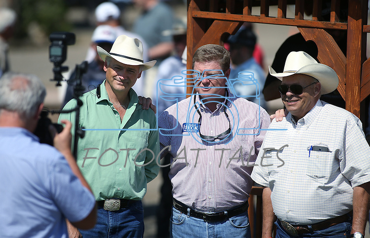 Nevada Republicans, from left, state Sen. James Settelmeyer, U.S. Rep. Mark Amodei and Assemblyman Jim Wheeler pose for a photo at the second annual Basque Fry in Gardnerville, Nev., on Saturday, Aug. 20, 2016. Cathleen Allison/Las Vegas Review-Journal