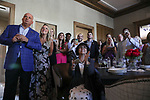 June 20, 2020: Guests cheer for Sole Volante at a Belmont Stakes watch party in Suwanee, Georgia. Tiz The Law won the race. Gabriella Audi/Eclipse Sportswire/CSM