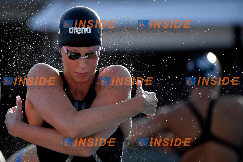 Federica Pellegrini of Italy prepares to compete in the women 200m freestyle during the 58th Sette Colli Trophy International Swimming Championships at Foro Italico in Rome, June 25th, 2021. Federica Pellegrini placed first. <br /> Photo Andrea Staccioli/Insidefoto/Deepbluemedia