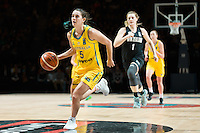 Melbourne, 15 August 2015 - Tessa LAVEY of Australia in action during game one of the 2015 FIBA Oceania Championships in women's basketball between the Australian Opals and the New Zealand Tall Ferns at Rod Laver Arena in Melbourne, Australia. Aus def NZ 61-41. (Photo Sydney Low / sydlow.com)