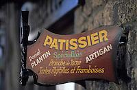 Europe/France/Auvergne/63/Puy-de-Dôme/Besse-en-Chandesse: Enseigne de la boulangerie-pâtisserie de Daniel Plantin