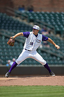 Winston-Salem Dash starting pitcher Tanner Banks (10) in action against the Buies Creek Astros at BB&T Ballpark on April 16, 2017 in Winston-Salem, North Carolina.  The Dash defeated the Astros 6-2.  (Brian Westerholt/Four Seam Images)