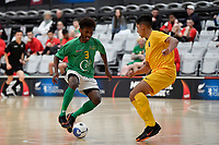 Melvin Rumere of Central during the Men's Futsal SuperLeague, Central Futsal v Southern United Futsal at ASB Sports Centre, Wellington on Saturday 31 October 2020.<br /> Copyright photo: Masanori Udagawa /  www.photosp ort.nz