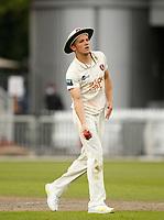 5th July 2021; Emirates Old Trafford, Manchester, Lancashire, England; County Championship Cricket, Lancashire versus Kent, Day 2; Matt Milnes of Kent