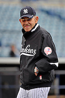 Feb 24, 2010; Tampa, FL, USA; New York Yankees  Hall of Famer Yogi Berra during  team workout at George M. Steinbrenner Field. Mandatory Credit: Tomasso De Rosa/Four Seam Images