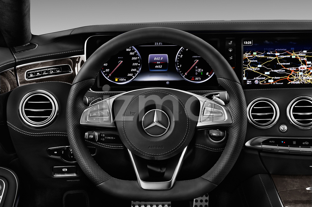 Car pictures of steering wheel view of a 2017 Mercedes Benz S-Class - 2 Door Coupe Steering Wheel