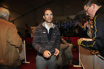 Alejandro Valverde (ESP) Movistar Team signs autographs for fans at the team presentations at the Palais Provincial in Liege city centre before the 98th edition of Liege-Bastogne-Liege 2012. 21st April 2012.  <br /> (Photo by Eoin Clarke/NEWSFILE).