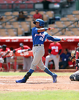Luis Matos participates in the MLB International Showcase at Estadio Quisqeya on February 22-23, 2017 in Santo Domingo, Dominican Republic.