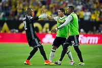 Action photo during the match Colombia vs Costa Rica, Corresponding to  Group -A- of the America Cup Centenary 2016 at NRG Stadium.<br /> <br /> Foto de accion durante el partido Colombia vs Costa Rica, Correspondiente al Grupo -A- de la Copa America Centenario 2016 en el Estadio NRG , en la foto: Robinson Zapata y James Rodriguez de Colombia<br /> <br /> <br /> 11/06/2016/MEXSPORT/Jorge Martinez.