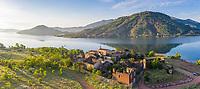 France, Herault, Lac du Salagou, Celles (aerial view) // France, Hérault (34), lac du Salagou, Celles (vue aérienne)