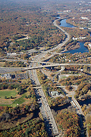 Mass Pike & Rt. 128 aerial, Weston,  MA
