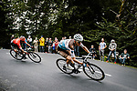 Romain Bardet (FRA) AG2R La Mondiale and Nairo Quintana (COL) Team Arkea-Samsic descend during Stage 9 of Tour de France 2020, running 153km from Pau to Laruns, France. 6th September 2020. <br /> Picture: ASO/Pauline Ballet   Cyclefile<br /> All photos usage must carry mandatory copyright credit (© Cyclefile   ASO/Pauline Ballet)