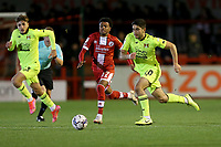 Ruel Sotiriou of Leyton Orient and Rafiq Khaleel of Crawley Town during Crawley Town vs Leyton Orient, Papa John's Trophy Football at The People's Pension Stadium on 5th October 2021