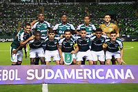 PALMIRA - COLOMBIA-18-07-2018: Deportivo Cali (COL) y Bolívar (BOL) en partido de la segunda fase, llave 8, por la Copa CONMEBOL Sudamericana 2018 jugado en el estadio Palmaseca de Cali. / Deportivo Cali (COL) and Bolivar (BOL) in match of the second phase, key 8, for the CONMEBOL Sudamericana Cup 2018 played at Palmaseca stadium in Cali.  Photo: VizzorImage/ Nelson Rios / Cont