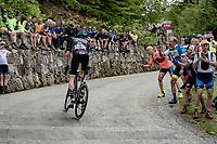 Romain Bardet (FRA/DSM) up the Alpe di Mera finish climb<br /> <br /> 104th Giro d'Italia 2021 (2.UWT)<br /> Stage 19 from Abbiategrasso to Alpe di Mera (Valsesia)(176km)<br /> <br /> ©kramon