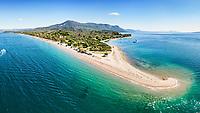 The beach Kavos at Lichadonisia complex in Evia island, Greece