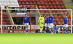 Aberdeen v St Johnstone…26.12.20   Pittodrie      SPFL<br />The saints plyersreact after conceding a second goal<br />Picture by Graeme Hart.<br />Copyright Perthshire Picture Agency<br />Tel: 01738 623350  Mobile: 07990 594431