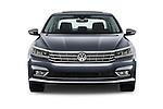 Car photography straight front view of a 2016 Volkswagen Passat 3.6L-SEL-Premium-Auto 4 Door Sedan Front View