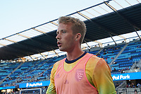 SAN JOSE, CA - AUGUST 17: Jackson Yueill #14 of the San Jose Earthquakes before a game between Minnesota United FC and San Jose Earthquakes at PayPal Park on August 17, 2021 in San Jose, California.