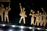 A sculpture stands in Nanjing, China, commemorating communism.