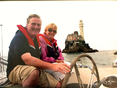 Racing folk go cruising – Jack & Rosemary Roy on Tangaroa at the Fastnet Rock.