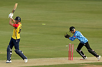 Paul Walter of Essex is stumped by Phil Salt during Essex Eagles vs Sussex Sharks, Vitality Blast T20 Cricket at The Cloudfm County Ground on 15th June 2021