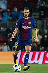 Sergio Busquets Burgos of FC Barcelona in action during the UEFA Champions League 2017-18 match between FC Barcelona and Olympiacos FC at Camp Nou on 18 October 2017 in Barcelona, Spain. Photo by Vicens Gimenez / Power Sport Images