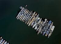 aerial photograph of the mothball fleet, Solano County, California, 2002