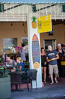 Patrons at Pineapples restaurant in downtown Hilo, Big Island of Hawai'i.