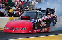 Aug. 5, 2011; Kent, WA, USA; NHRA funny car driver Gary Densham during qualifying for the Northwest Nationals at Pacific Raceways. Mandatory Credit: Mark J. Rebilas-